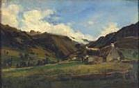 Холмистый пейзаж в Оверне
