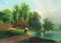 Лето. Речка в Красном Селе