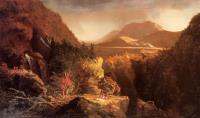 Пейзаж с фигурами. Сцена из «Последнего из могикан»