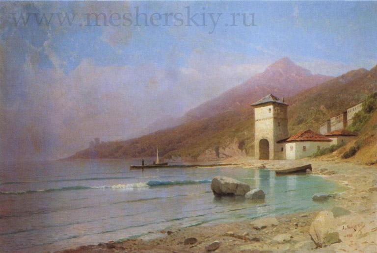 Вид Иверского монастыря на Афоне