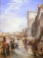 Пейзаж на Гранд канале, улица в Венеции